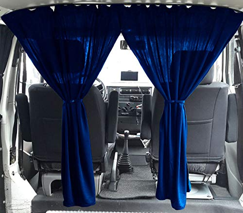 VW T3 T4 Multivan Transporter Caravelle Maß Gardinen Fahrerhaus Abtrennung Farbe: Blau