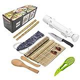 Diseño De Bricolaje 12 / Set Kit De Equipos De Sushi Kit De Arroz Bola De Pastel Molde De Rodillo Sushi Molde Multifunción Molde Herramienta De Sushi_Blanco