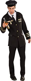 Costume Heroes and Hombres Pilot Jacket With Shirtfront Tie and Hat