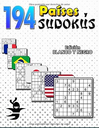 194 Países y Sudokus: Geografía y Matemáticas | Libro de Actividades para Niños y Adultos | Continentes, Población y Capitales (Diviértete y Aprende con FunnyJoy)