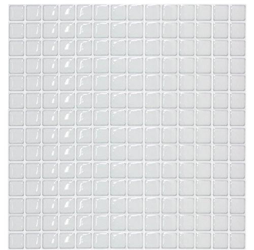モザイクタイルシール キッチン 洗面所 トイレの模様替えに最適のDIY 壁紙デコレーション BST-11 スノー Sn...