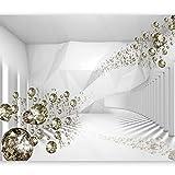 murando - Fototapete Abstrakt 350x256 cm - Vlies Tapete - Moderne Wanddeko - Design Tapete - Wandtapete - Wand Dekoration - Diamant optisch a-A-0188-a-b
