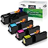 SINOPRINT Compatible Toner Cartridge Replacement for Xerox Phaser 6022 6020 WorkCentre 6027 6025 106R02759 106R02756 106R02757 106R02758 Black Cyan Magenta Yellow 4 Pack