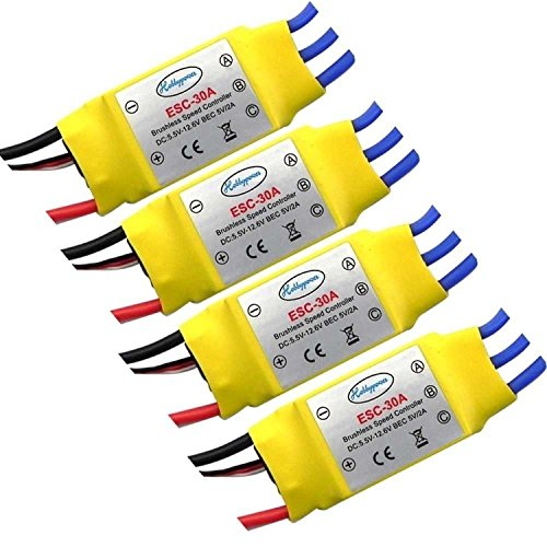 powerday 30A Brushless Speed Controller ESC for RC Helicopter Airplane Multirotor(Pack of 4)