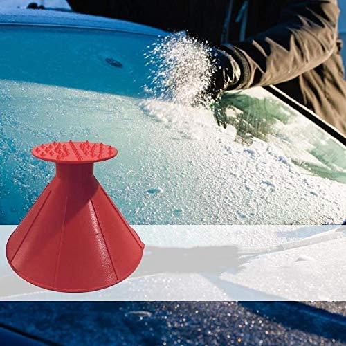 Auto Auto Magie Fenster Windschutzscheibe Auto Eisschrott, 2 in 1 Öl Trichter Schaufel Fenster Scraper s Cone Deicing 4PCS