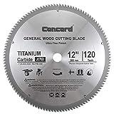 Concord Blades WCB1200T120HP 12-Inch 120 Teeth TCT General Purpose Hard & Soft Wood Saw Blade