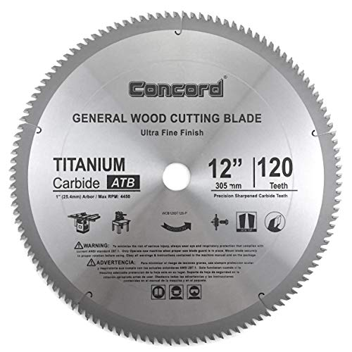 Concord WCB1200T120HP 12-Inch Miter Saw Blade