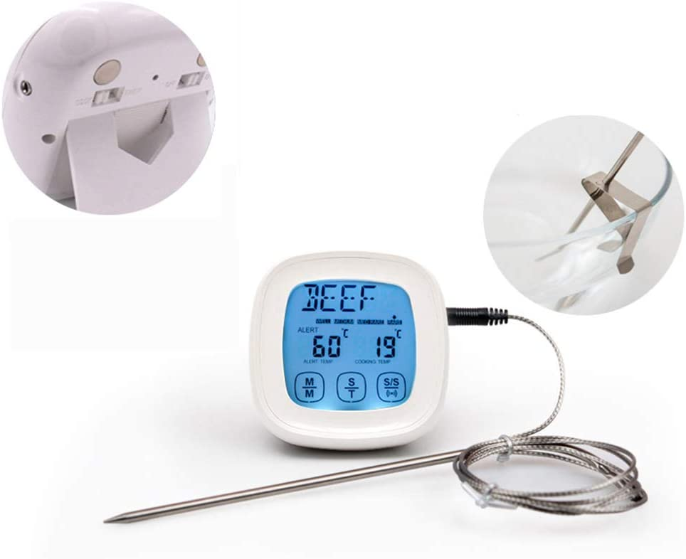 JUCAI Remote Digital Recommendation LCD Max 54% OFF Cooking Meat Thermometer Food Waterpro