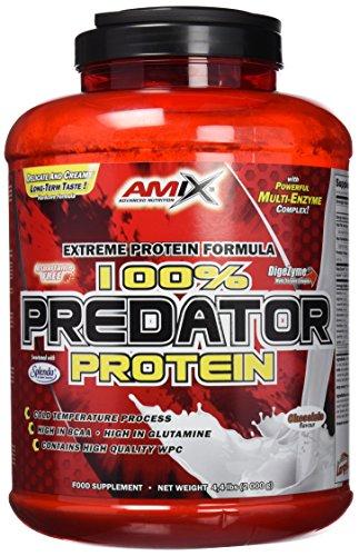 AMIX, Proteínas para Aumentar Masa Muscular con Sabor Chocolate, Predator en Formato Bote de 2 Kg, Ayuda al Crecimiento Muscular, Libre de Aspartamo, Ideal para Batidos de Proteínas