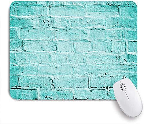 SUHOM Gaming Mouse Pad Rutschfeste Gummibasis,Mint Backstein alte Mauer in lebendigen Tönen Architektur Stadtgebäude Bild,für Computer Laptop Office Desk,240 x 200mm