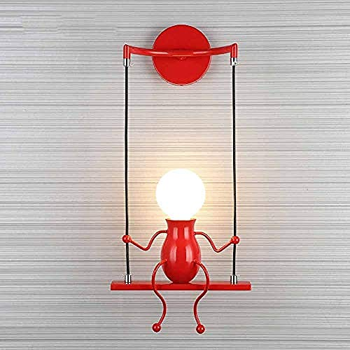 Wandleuchte Nachtlicht Wandtattoo Pendelleuchte geeignet für Schlafzimmer Nacht Kinderzimmer Flur Restaurant Treppe E27 @ 红 beleuchtung