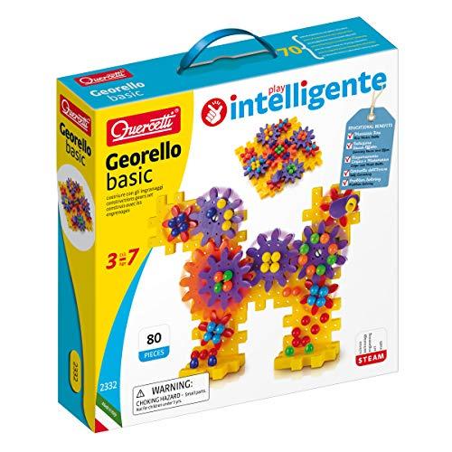 Quercetti 2332 Quercetti-2332 Georello Basic-Bauspiel, Zahnräder-Spiel, Multicolor