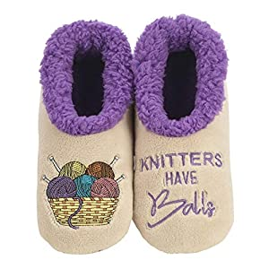 Snoozies Womens Slippers – Womens House Slipper Socks – Knitters Pairables