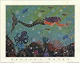 Buyartforless Purple Mermaid by Jessica Fries 7x5 Art Print