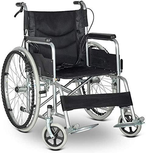 Falten tragbar Rollstühle, Licht und Komfortabel Wagen, mit Korrosionsschutz Rahmen, Atmungsaktiv Rückenlehne Sitz, Handbremse, zum Behindert und Alten,A