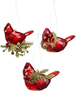 Ganz Teeny Cardinal Ornaments Set of 3