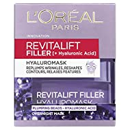 Revitalift Filler Hylaromask is a leave on anti-ageing mask. Formulated with plumping beads and concentrated Hyaluronic Acid for intense replumping action This is not a Dermatological Filler however, it will reduce the appearance of wrinkles and repl...