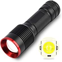 LED Flashlight, New P50 Xenon Lamp, Strong Light Flashlight Aluminum Alloy Outdoor Riding Rechargeable Flashlight Five-Spe...