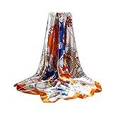 DEBAIJIA Mujeres Seda Bufanda Chales Ligeros Elegantes Envolturas Pañuelo Suave Alta Calidad Moda Bufandas Elegantes Protección Solar Caminando al aire libre Oficina 90 * 90 cm