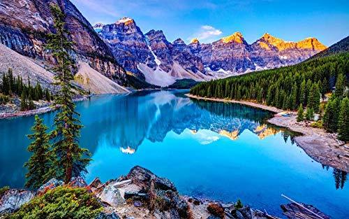 Puzzel 35 Stukjes Berg Boom Meer Landschap, Educatieve Spellen, Puzzelgeschenken Voor Vrienden