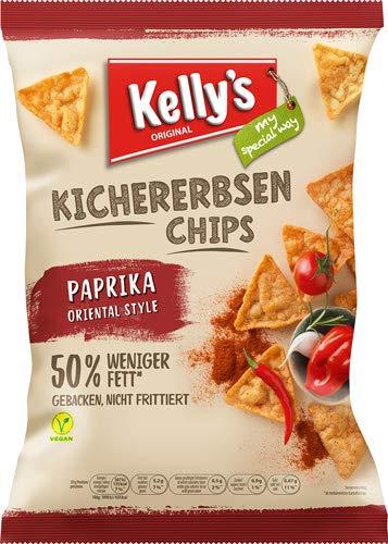 Kelly's Original Kichererbsen-Chips Paprika Oriental Style - 10x 60 g
