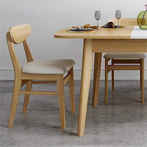 ZRRtables Eettafel Opvouwbare Tafelset Nordic Keuken Eettafel met 4 Stoelen Houten Tafel en Stoelen Set Keukentafel en Stoelen voor 6 Persoon