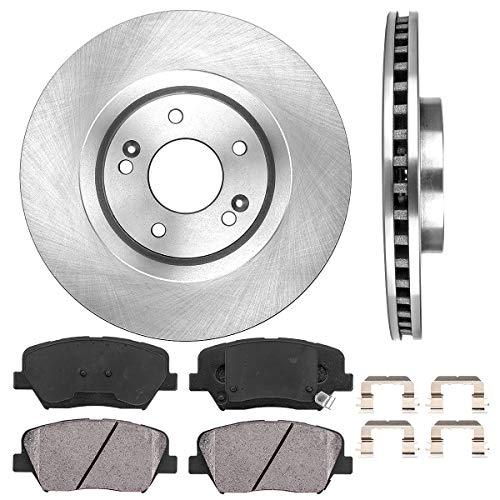 Callahan FRONT 320 mm Premium OE 5 Lug [2] Brake Rotors + [4] Ceramic Brake Pads + Hardware + CRK01555