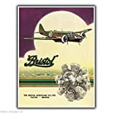 KODY HYDE Metall Poster - Bristol Airplanes - Vintage