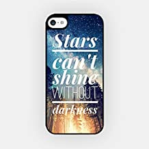 for iPhone 8 TPU Plastic Case - Stars Can't Shine Without Darkness - Motivational Quote - Wanderlust - Travel