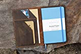 Personalized distressed leather cover case portfolio for Minimalism art notebook journal composition B5 classic medium A5 A4 MAX05SL