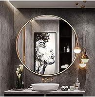 LAXF-ミラー・鏡 ラウンドウォールミラー、 壁に取り付けられた円ミラー、 装飾的な金属フレームミラー、 浴室の出入口の洗面所の居間のための虚栄心ミラー、 ゴールド