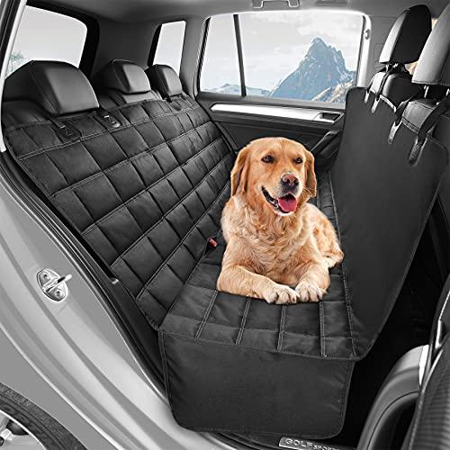 FOGIMO Coprisedile per Auto per Cani, Coprisedile Posteriore Antiscivolo per Cani con Alette Laterali, Lavabile in Lavatrice, Protezione per Seggiolino Auto 3 in 1