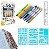 Mr. Pen- Bible Journaling Kit with Bible Highlighters and Pens No Bleed, Bible Tabs, Bible Stencils, Bible Ruler, Bible Markers No Bleed, Bible Journaling Supplies, Bible Study Kit, Christian Gifts