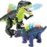 REMOKING 恐竜おもちゃ 恐竜フィギュア おもちゃ 女の子 男の子 知育玩具 ロボット子供玩具 電動玩具 自動 歩行 発声 発光 LEDライト スプレー 口開閉 動物モデル 両足自立 大迫力 パーティー お誕生日プレゼント 保育園教具