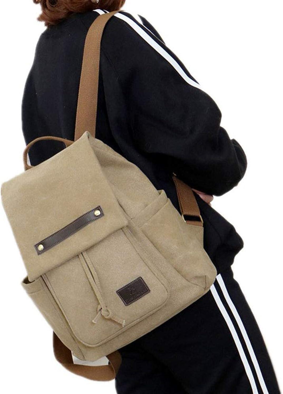 c1e3efc8408 Outdoor Leisure Canvas Backpack Lightweight Retro Fashion Rucksack for Men  Women Large Capacity School Bag Travel College nubkwt170-Sporting goods