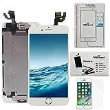 trop saint Kit de Réparation Écran pour iPhone 6 - LCD Blanc Complet avec Notice en 5 Langues, Outils, Tapis de Repérage Magnetique et Film Protecteur d'écran en Verre Trempé