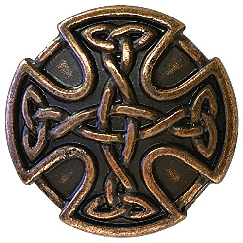 BS9977 Screw Back Celtic Cross Conchos 1' (25mm) Antique Copper Celtic Concho 10 pcs