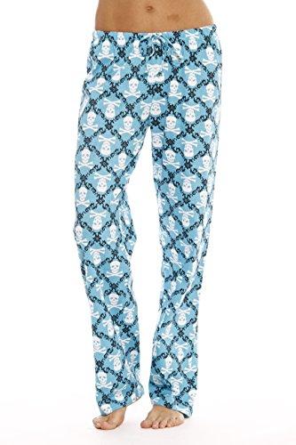 Just Love Women Pajama Pants / Sleepwear 6324-10051, Skulls Blue, Medium