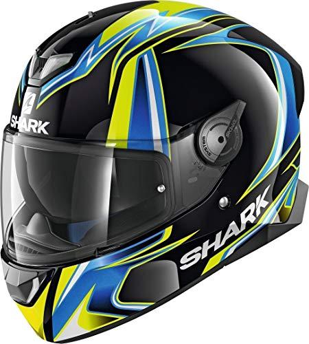 Shark Motorradhelm SKWAL 2 SYKES KBY, Schwarz/Blau/Gelb, M
