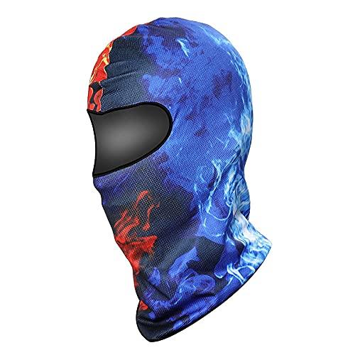 Damaifirstes Headgear - Máscara de ciclismo para hombre, protector solar, capucha delgada para motocicleta, cortavientos y frío, forro de casco a prueba de polvo, 2 unidades, 23 x 40 cm