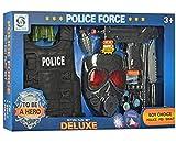 Toy Set with Bullet Proof Vest Jacket, Toy Gun, Watch, Flashlight, Walkie Talkie