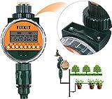 FIXKIT Temporizador de Agua Digital con Sensor de Lluvia, Reloj de Riego IP68, Pantalla LCD Resistente al Agua, Programas de Riego de hasta 30 días, Ideal para Regar Flores, Regar Jardines
