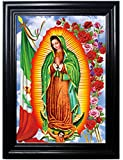 Those Flipping Pictures Guadalupe Framed Wall Art-Lenticular Technology Causes The Artwork to Flip-Multiple Pictures in ONE-Hologram Type Images Change-Mesmerizing Holographic Optical Illusions