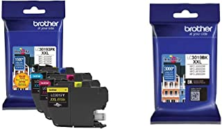 $121 » Brother Printer LC30193PK Super High Yield XXL 3 Pack Ink Cartridges- 1 Ea: Cyan/Magenta/Yellow Ink & LC3019BK Super High ...