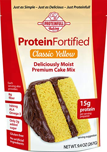 Healthy Habits Proteinfull Baking Classic Yellow Cake Mix - Gluten Free, Keto Friendly Dessert High in Protein and Natural Fiber, Low in Carbs and Sugar