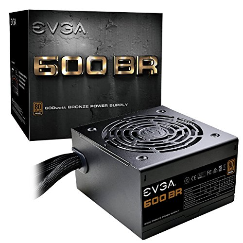 EVGA 600 BR, 80+ Bronze 600W, 3 Year Warranty, Power Supply 100- BR-0600-K1
