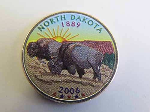 2006 Various Mint Marks North Dakota State Colorized Quarter Choice Uncirculated