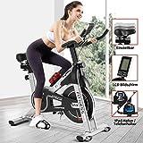 Fitnessclub Heimtrainer Radfahren Spin Bike mit Riemen angetriebenes Schwungrad Radfahren Verstellbarer Lenker Sitzwiderst