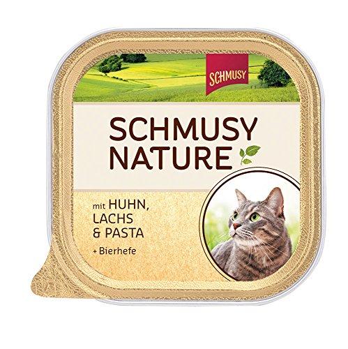 Schmusy Katzenfutter Nature Balance Huhn+Lachs 100 g, 16er Pack (16 x 100 g)