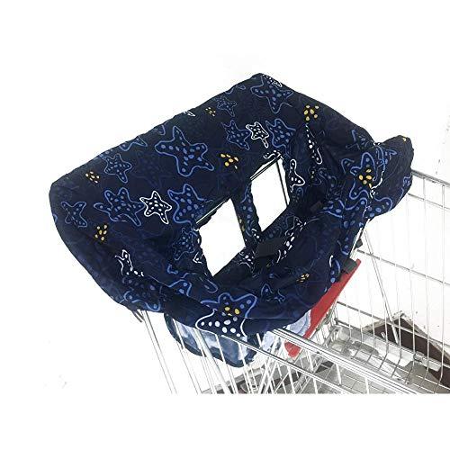 Seasaleshop Einkaufswagenschutz Mit Gurt, Universeller Hygieneschutz Für Einkaufswagen Mit Beißring Und Knisterpapier Maschinenwaschbar.